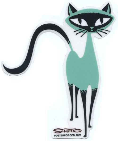 SHS122 Shag Siamese Kitten Sticker