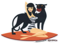 SHS119 Shag Panther Betty Sticker