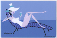 SHS118 Shag Chaise Lounge Sticker