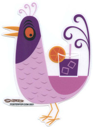 SHS114 Shag Purple Drink Bird Sticker