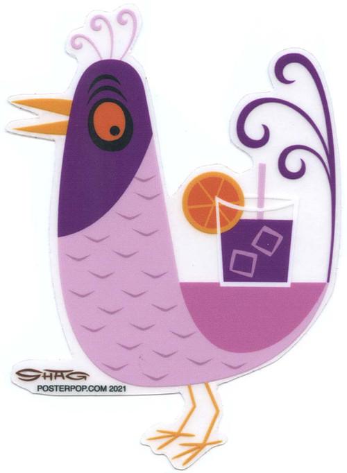 SHS114 Shag Purple Drink Bird Sticker