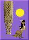 SHM128 Shag  Hula Tiki Sun Fridge Magnet Purple