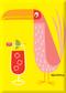 SHM112P Shag Pink Drink Bird Fridge Magnet Yellow