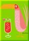 SHM112P Shag Pink Drink Bird Fridge Magnet Green