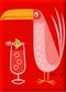 SHM112P Shag Pink Drink Bird Fridge Magnet Red