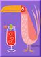 SHM112P Shag Pink Drink Bird Fridge Magnet Purple