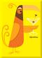 SHM112 Shag Orange Martini Bird Fridge Magnet Yellow