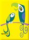 SHM110 Shag Birds Fridge Magnet Yellow