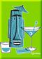 SHM95 Shag Turquoise Tiki Drink Fridge Magnet Green