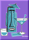 SHM95 Shag Turquoise Tiki Drink Fridge Magnet Purple