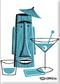 SHM95 Shag Turquoise Tiki Drink Fridge Magnet White