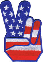 Peace Hand Patch Image