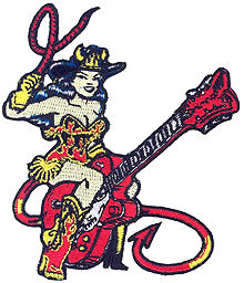 Vince Ray Guitar Girl Patch Image