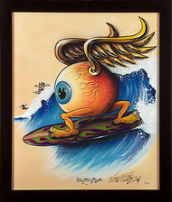 Von Franco Surfing Eyeball Fine Art Print Image