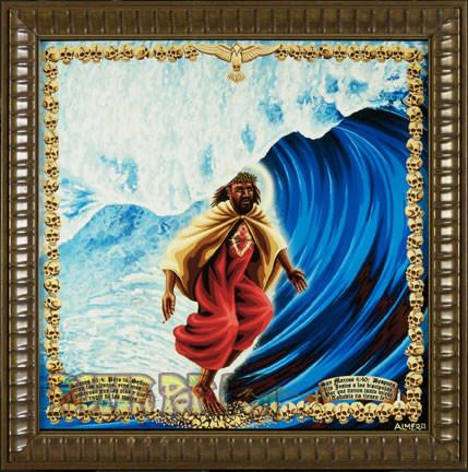 Almera Surfing Jesus Fine Art Print Image