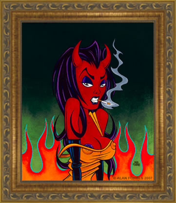 Forbes Smokin Fine Art Print Framed Image