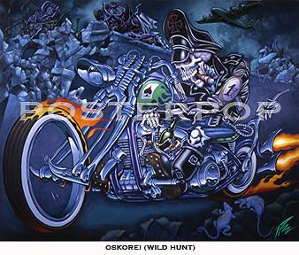 Pizz Wild Hunt Fine Art Print Image