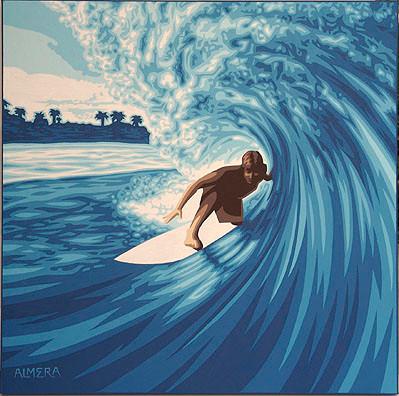 Almera Tube Rider Original Painting Image