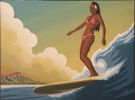 Almera Hawaiian Surfer Girl Original Painting Image
