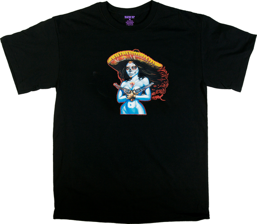 BT20 BigToe Chica Termino T Shirt, Day of the Dead Image