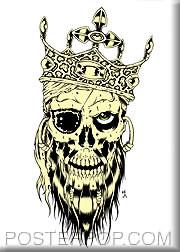 Forbes Pirate King Fridge Magnet Image