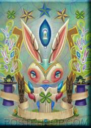 Aaron Marshall Magic Bunny Fridge Magnet Image
