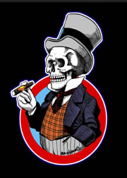 Von Strawn Mr Bones Fridge Magnet Image