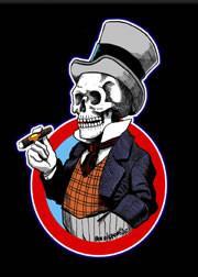Von Strawn Mr Bones Fridge Magnet Image