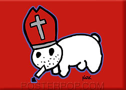 Kozik Pope Bunny Fridge Magnet Image