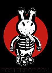 Kozik Bone Bunny Fridge Magnet Image