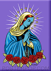 Almera Blue Mary Fridge Magnet Image
