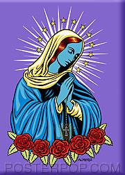 Almera Blue Mary Fridge Magnet Image