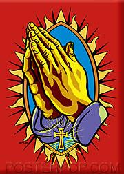Almera Praying Hands Fridge Magnet Image