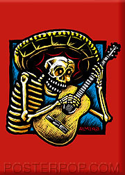 Almera Guitarro Fridge Magnet Image
