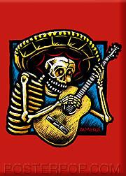 Almera Guitarro Fridge Magnet Image