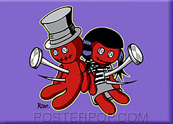Kruse Voodoo kids Fridge Magnet