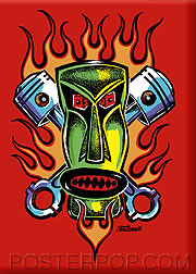 Von Franco Piston Tiki Fridge Magnet Image