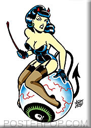 Vince Ray Eyeball Betty Fridge Magnet Image