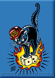 Vince Ray 13 Cat Fridge Magnet Image