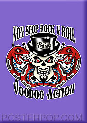 Vince Ray Non Stop R&R Fridge Magnet