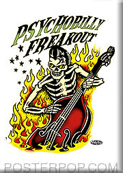 Vince Ray Psychobilly Bass Fridge Magnet Image
