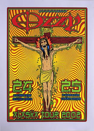 Forbes Ozzy Osbourne 2002 Silkscreen Concert Poster Image