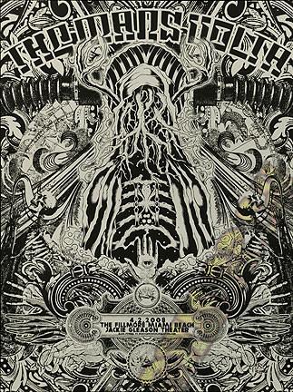Forbes The Mars Volta Silkscreen Concert Poster 2008, Miami Beach FL  Image