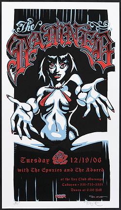 BigToe The Damned Silkscreen Concert Poster 2006 Image