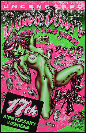 BigToe Double Down Las Vegas 17th Anniversary Silkscreen Poster 2009 Image