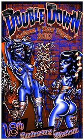 BigToe Double Down Las Vegas 18th Anniversary Silkscreen Poster 2010 Image