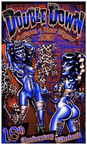 BigToe Double Down Las Vegas 18th Anniversary Silkscreen Poster 2010 Image