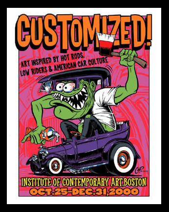 Coop Customized Art Show Boston Silkscreen Poster Image