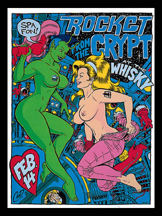 Coop Rocket From The Crypt Silkscreen Concert Poster Image