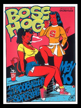 Coop Boss Hog Silkscreen Concert Poster 1996 Image